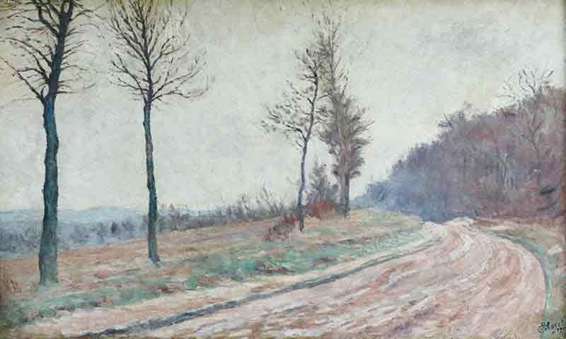 Artwork of Winter landscape